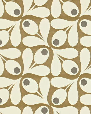 Acorn-Spot-orla-kiely-behang-kleur-brown-pepper-art-no-1104