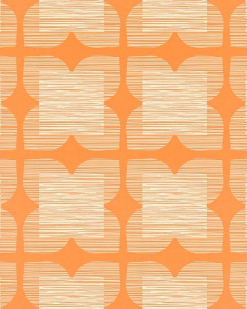 Flower-Tile-orla-kiely-behang-kleur-clementine-art-no-110422