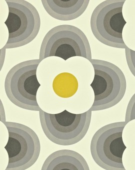 Striped-Petal-orla-kiely-behang-kleur-graphite-art-no-110402