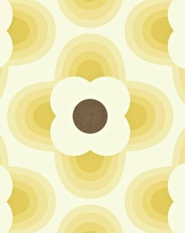 Striped-Petal-orla-kiely-behang-kleur-straw-art-no-110405